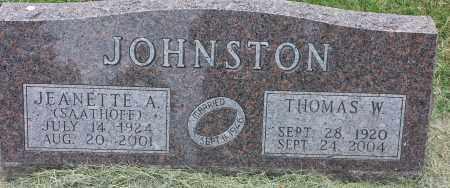 JOHNSTON, JEANETT A - Codington County, South Dakota   JEANETT A JOHNSTON - South Dakota Gravestone Photos