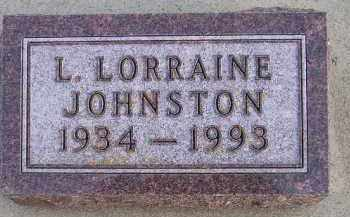 JOHNSTON, L. LORRAINE - Codington County, South Dakota | L. LORRAINE JOHNSTON - South Dakota Gravestone Photos