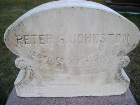 JOHNSTON, PETER GARDNER - Codington County, South Dakota   PETER GARDNER JOHNSTON - South Dakota Gravestone Photos