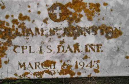 JOHNSTON, WILLIAM BURTON - Codington County, South Dakota | WILLIAM BURTON JOHNSTON - South Dakota Gravestone Photos