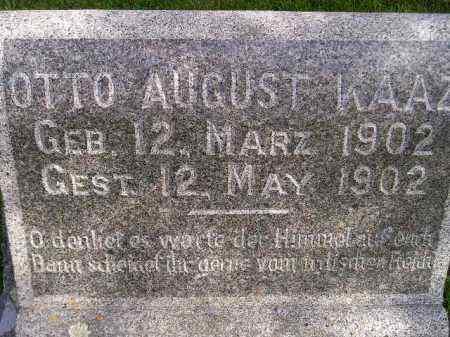 KAAZ, OTTO AUGUST - Codington County, South Dakota | OTTO AUGUST KAAZ - South Dakota Gravestone Photos