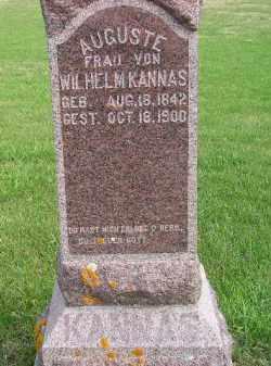 KANNAS, AUGUSTE - Codington County, South Dakota | AUGUSTE KANNAS - South Dakota Gravestone Photos