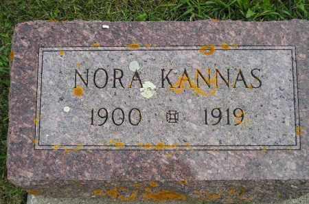 KANNAS, NORA - Codington County, South Dakota | NORA KANNAS - South Dakota Gravestone Photos