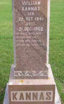 KANNAS, WILLIAM - Codington County, South Dakota | WILLIAM KANNAS - South Dakota Gravestone Photos