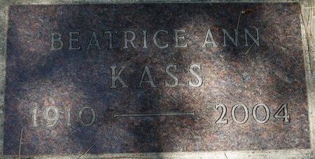 KASS, BEATRICE ANN - Codington County, South Dakota   BEATRICE ANN KASS - South Dakota Gravestone Photos