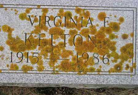 KELTON, VIRGINIA E. - Codington County, South Dakota   VIRGINIA E. KELTON - South Dakota Gravestone Photos