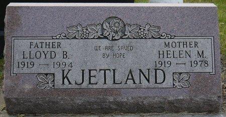 KJETLAND, HELEN M. - Codington County, South Dakota   HELEN M. KJETLAND - South Dakota Gravestone Photos