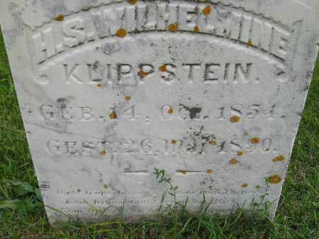 KLIPPSTEIN, H.S. WILHELMINE - Codington County, South Dakota | H.S. WILHELMINE KLIPPSTEIN - South Dakota Gravestone Photos