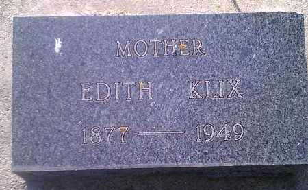 KLIX, EDITH - Codington County, South Dakota   EDITH KLIX - South Dakota Gravestone Photos