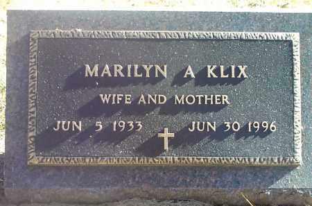 KLIX, MARILYN A. - Codington County, South Dakota   MARILYN A. KLIX - South Dakota Gravestone Photos