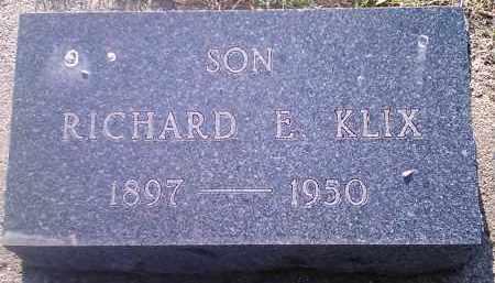 KLIX, RICHARD E - Codington County, South Dakota   RICHARD E KLIX - South Dakota Gravestone Photos