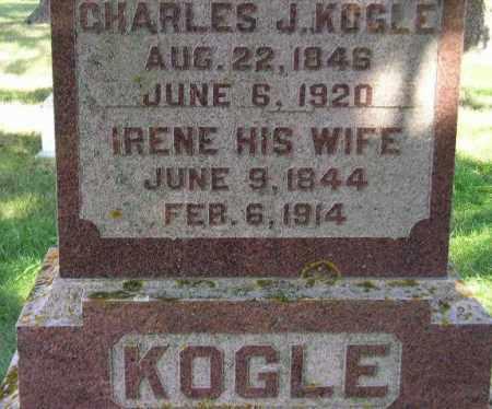 KOGLE, IRENE - Codington County, South Dakota   IRENE KOGLE - South Dakota Gravestone Photos