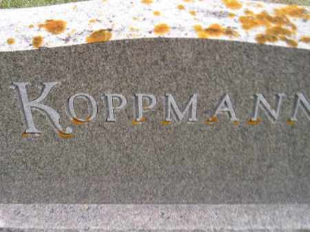 KOPPMANN, FAMILY STONE - Codington County, South Dakota | FAMILY STONE KOPPMANN - South Dakota Gravestone Photos
