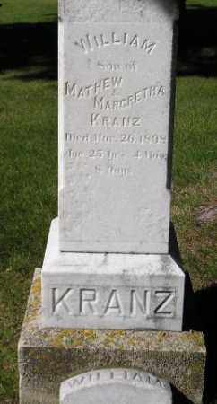 KRANZ, WILLIAM - Codington County, South Dakota   WILLIAM KRANZ - South Dakota Gravestone Photos