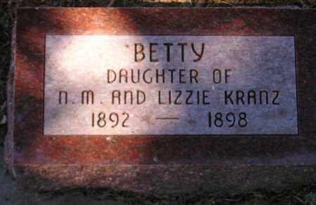 KRANZ, BETTY - Codington County, South Dakota   BETTY KRANZ - South Dakota Gravestone Photos