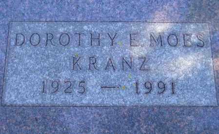 MOES KRANZ, DOROTHY E. - Codington County, South Dakota   DOROTHY E. MOES KRANZ - South Dakota Gravestone Photos