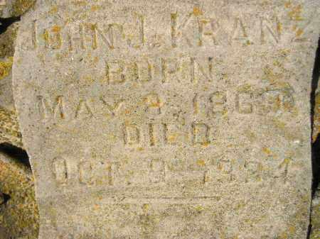 KRANZ, JOHN J. - Codington County, South Dakota | JOHN J. KRANZ - South Dakota Gravestone Photos