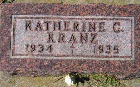 KRANZ, KATHERINE C. - Codington County, South Dakota   KATHERINE C. KRANZ - South Dakota Gravestone Photos