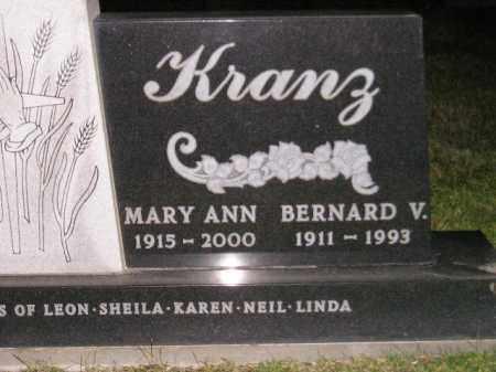KRANZ, BERNARD V. - Codington County, South Dakota | BERNARD V. KRANZ - South Dakota Gravestone Photos