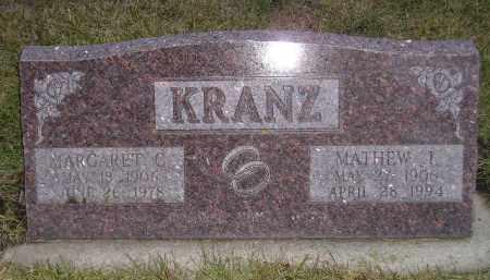 KRANZ, MATHEW J. - Codington County, South Dakota   MATHEW J. KRANZ - South Dakota Gravestone Photos