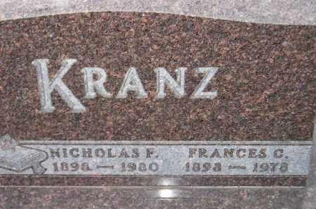KRANZ, FRANCES C. - Codington County, South Dakota | FRANCES C. KRANZ - South Dakota Gravestone Photos