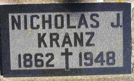KRANZ, NICHOLAS J. - Codington County, South Dakota   NICHOLAS J. KRANZ - South Dakota Gravestone Photos