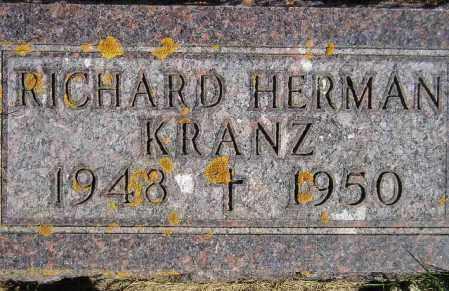 KRANZ, RICHARD HERMAN - Codington County, South Dakota   RICHARD HERMAN KRANZ - South Dakota Gravestone Photos