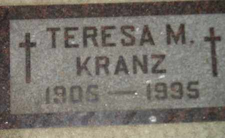 KRANZ, TERESA M. - Codington County, South Dakota | TERESA M. KRANZ - South Dakota Gravestone Photos