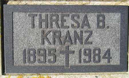 KRANZ, THRESA B. - Codington County, South Dakota | THRESA B. KRANZ - South Dakota Gravestone Photos