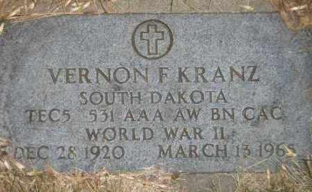 KRANZ, VERNON F. - Codington County, South Dakota | VERNON F. KRANZ - South Dakota Gravestone Photos