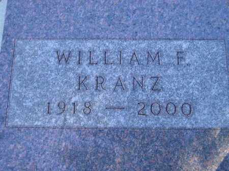 KRANZ, WILLIAM FREDERICK - Codington County, South Dakota | WILLIAM FREDERICK KRANZ - South Dakota Gravestone Photos