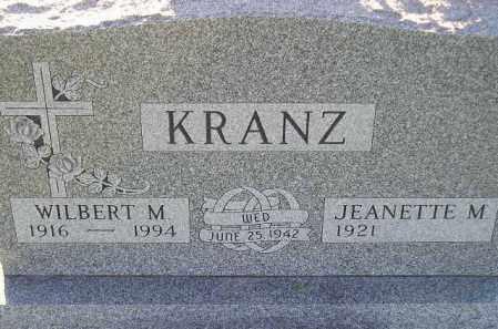 KRANZ, JEANETTE M. - Codington County, South Dakota   JEANETTE M. KRANZ - South Dakota Gravestone Photos