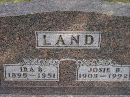 LAND, JOSIE BERTHA - Codington County, South Dakota | JOSIE BERTHA LAND - South Dakota Gravestone Photos