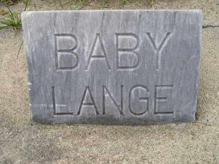 LANGE, BABY - Codington County, South Dakota | BABY LANGE - South Dakota Gravestone Photos