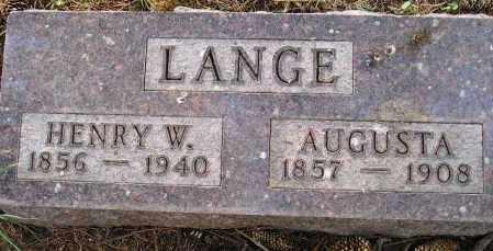 LANGE, HENRY W. - Codington County, South Dakota   HENRY W. LANGE - South Dakota Gravestone Photos