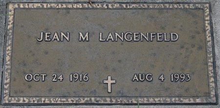 LANGENFELD, JEAN M. - Codington County, South Dakota   JEAN M. LANGENFELD - South Dakota Gravestone Photos