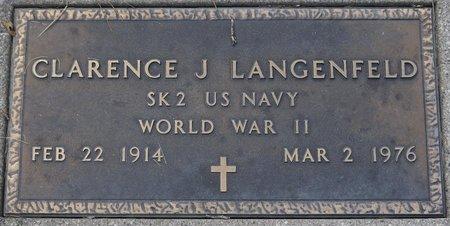 LANGENFELD, CLARENCE J. (MILITARY) - Codington County, South Dakota | CLARENCE J. (MILITARY) LANGENFELD - South Dakota Gravestone Photos