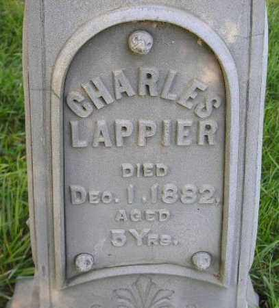 LAPPIER, CHARLES - Codington County, South Dakota | CHARLES LAPPIER - South Dakota Gravestone Photos
