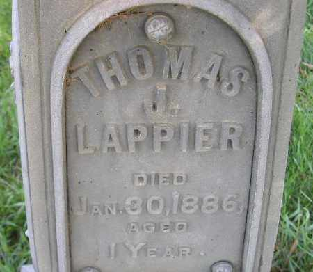 LAPPIER, THOMAS J. - Codington County, South Dakota | THOMAS J. LAPPIER - South Dakota Gravestone Photos