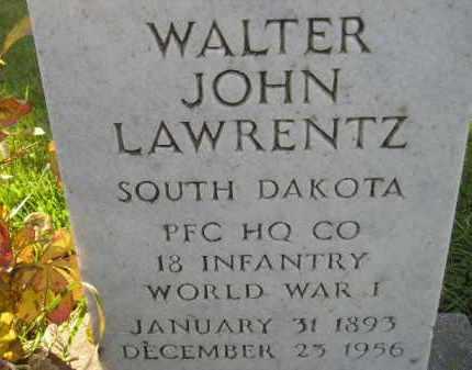 LAWRENTZ, WALTER JOHN - Codington County, South Dakota   WALTER JOHN LAWRENTZ - South Dakota Gravestone Photos