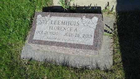 LEEMHUIS, FLORENCE A - Codington County, South Dakota | FLORENCE A LEEMHUIS - South Dakota Gravestone Photos