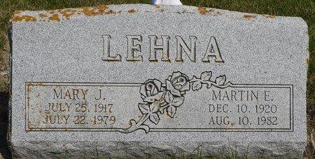 LEHNA, MARY J. - Codington County, South Dakota | MARY J. LEHNA - South Dakota Gravestone Photos