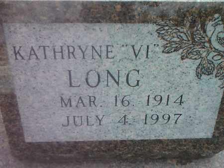 LONG, KATHRYNE VI - Codington County, South Dakota   KATHRYNE VI LONG - South Dakota Gravestone Photos