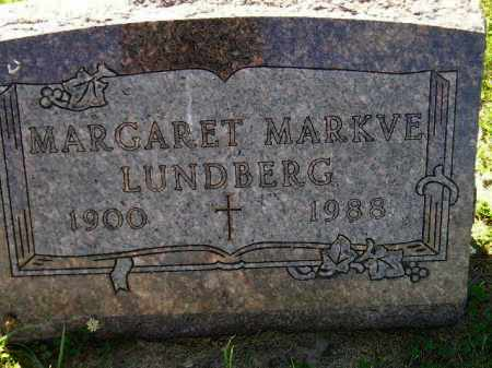 MARKVE LUNDBERG, MARGARET - Codington County, South Dakota | MARGARET MARKVE LUNDBERG - South Dakota Gravestone Photos