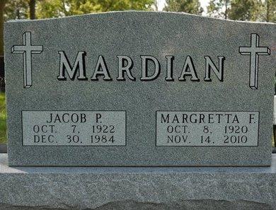 MARDIAN, MARGRETTA F. - Codington County, South Dakota | MARGRETTA F. MARDIAN - South Dakota Gravestone Photos