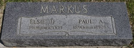 MARKUS, ELSIE H. - Codington County, South Dakota | ELSIE H. MARKUS - South Dakota Gravestone Photos