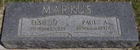 MARKUS, PAUL A. - Codington County, South Dakota | PAUL A. MARKUS - South Dakota Gravestone Photos