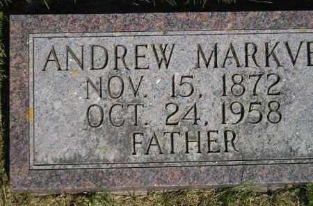 MARKVE, ANDREW - Codington County, South Dakota | ANDREW MARKVE - South Dakota Gravestone Photos