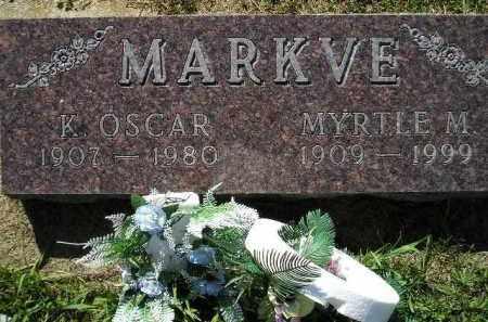 STEE MARKVE, MYRTLE MARGARET - Codington County, South Dakota | MYRTLE MARGARET STEE MARKVE - South Dakota Gravestone Photos