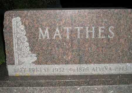 MATTHES, ERNEST - Codington County, South Dakota | ERNEST MATTHES - South Dakota Gravestone Photos